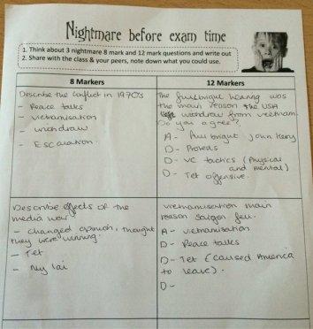 Nightmare before the exam 1